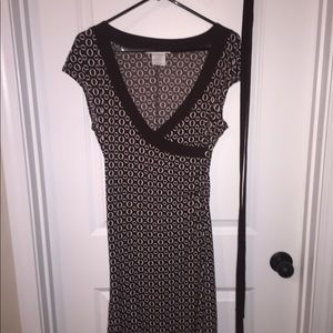 Brown and white dress, like new, worn once